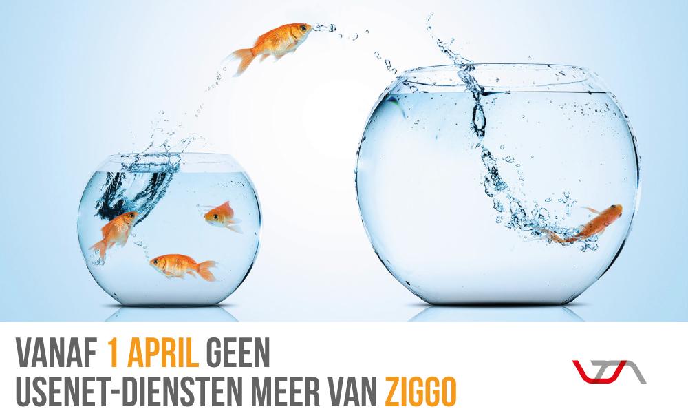 Vanaf 1 April geen Usenet-Diensten meer van ziggo